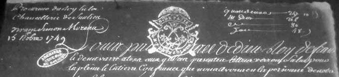 En tête de la lettre de provision d'office de Vivant-Simon Moreau