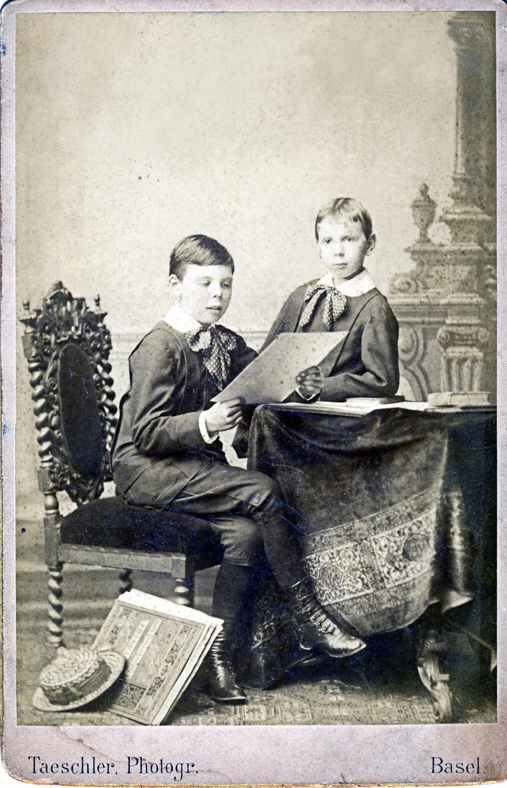 Christian et Daniel Karcher - Bâle - propablement 1884 ou 1885