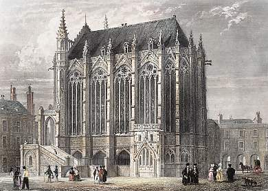 La Sainte Chapelle - gravure de 1846