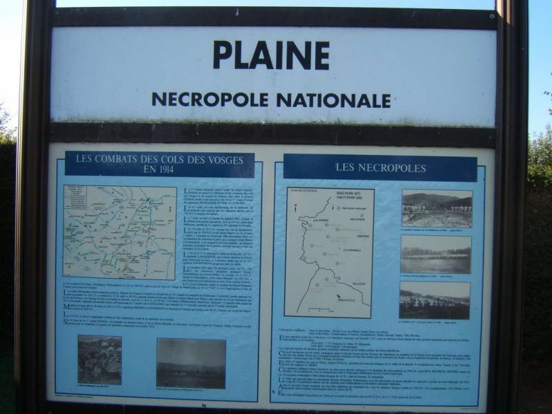 Nécropole de Plaine (67) - Photo pages14-18.mesdiscussions.net