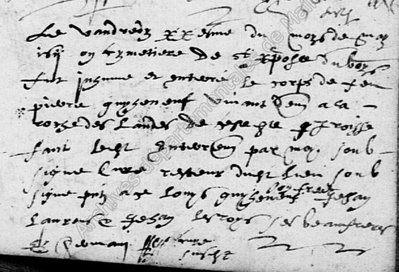 AD49 - Mariages Sépultures St Christophe 1606-1666 - vue 106/279