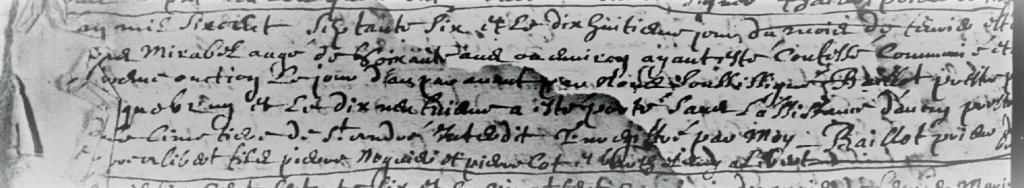 Capture d'écran de l'image 128/150 du registre BMS Roquebrun 1651-1678 aux archives de l'Hérault