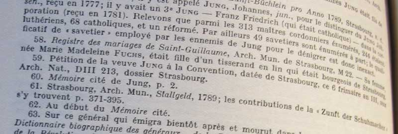 """Extrait des notes de l'article """"Jean Jung, cordonnier et terroriste"""""""