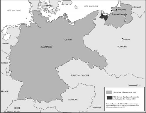 Carte de l'Allemagne en 1922 - rge.revues.org