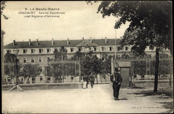 Caserne du 109ème régiment d'infanterie à Chaumont