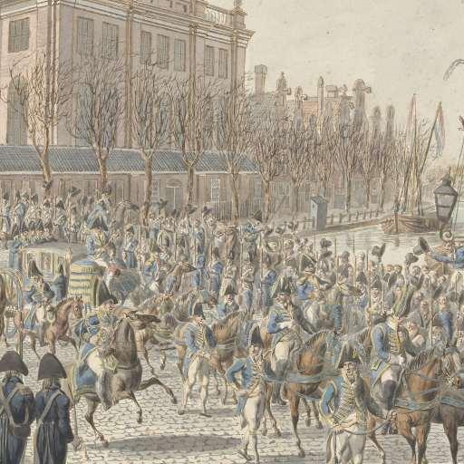 Entrée de Louis Napoléon Bonaparte à Amsterdam -le 20/04/1808 - Rijkmuseum Amsterdam