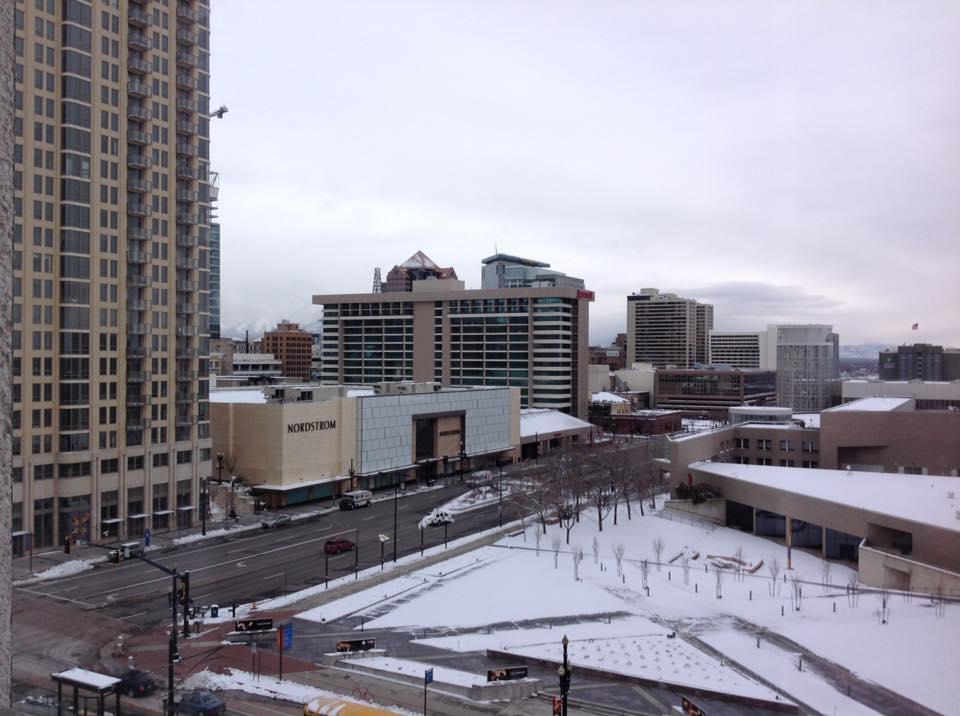 Salt Lake City, le centre des congrès vu de ma chambre d'hôtel