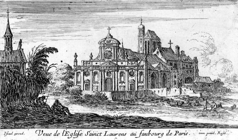 Eglise Saint Laurent au Moyen âge sur le site Menestrel.fr