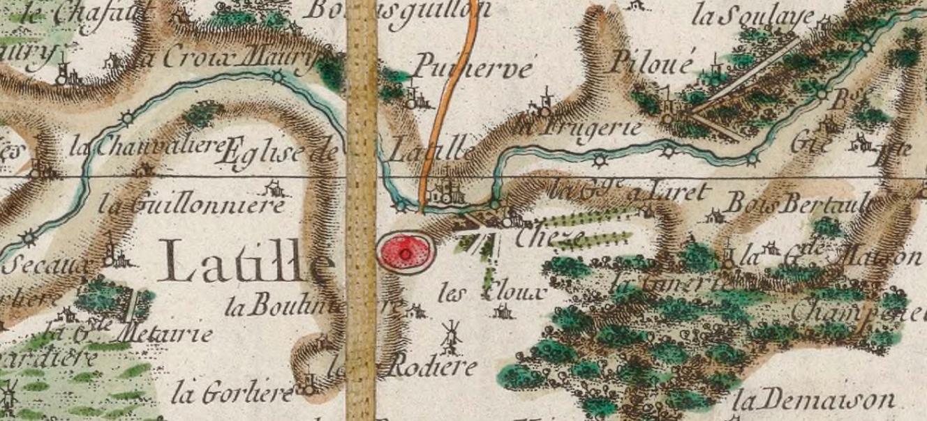 Gallica - Carte générale de la France. 067, [Poitiers]. N°67. Flle 92 / gravé par Chalmandrier ; [établie sous la direction de César-François Cassini de Thury]